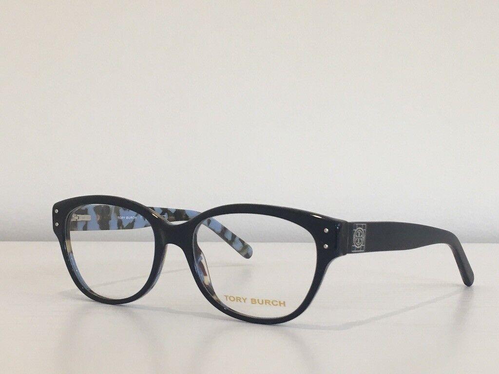 88 Tory Burch TY 2040 1288 Cat Eye Navy Blue Havana Eyeglasses Frame 52*17*135