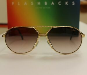 11d5c1e72222 Image is loading Cazal-968-Flashbacks-Sunglasses-Limited-Edition-Gold-NEW