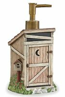 Linda Spivey Outhouse Dispenser By Park Designs, Soap Or Lotion, Hand Painted