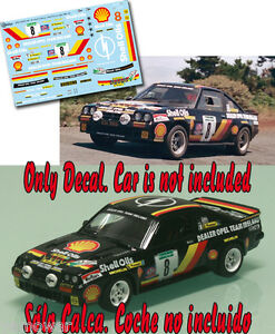 Decal-1-43-Austin-Mc-Hale-OPEL-MANTA-400-Rally-El-Corte-Ingles-1986