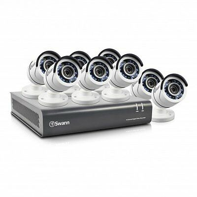 Swann 8 Ch 2.1MP AHD DVR DVR8-4550 with 8 x 1080P Bullet Cameras - SWDVK-845508