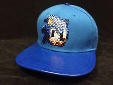 BIOWORLD The Hedgehog Sega Pixel Sonic Face Black Snapback Hat