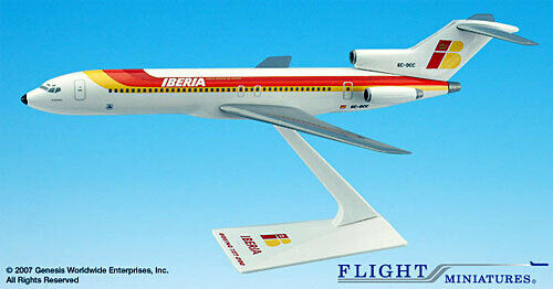 Iberia BOEING 727-200 1:200 aereo modello b727 Flight Miniatures Spagna