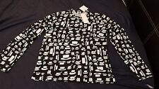 New With Tags Comme des garcons Black T-shirt Hat Print Size Large L RRP - £90
