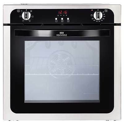 New World NW602FP Interior Light Single Electric Fan Oven in Stainless Steel