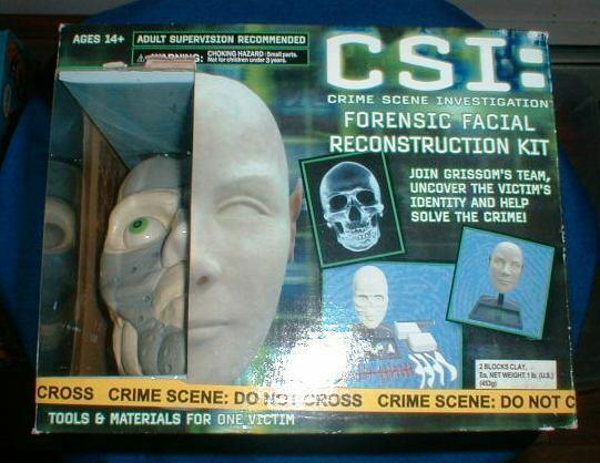 CSI FORENSIC FACIAL RECONSTRUCTION KIT 2005 PLANET TOYS NRFB