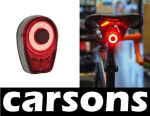Posteriore-USB-Ricaricabile-Luce-rossa-BICI-LUNARE-LUCI-LUMINOSO-in-Alluminio-Coda-carsons