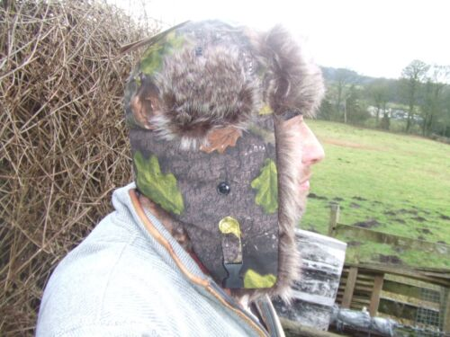 TUNDRA EVOLUTION CAMO FAUX FUR WARM WINTER TRAPPER RUSSIAN SHOOTING FISHING HAT