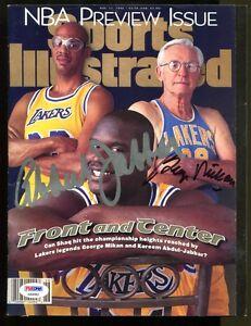 George-Mikan-Kareem-Abdul-Jabbar-Signed-Sports-Illustrated-Auto-PSA-DNA
