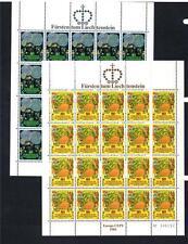LIECHTENSTEIN MNH 1981 SG761-762 EUROPA SHEETS X 2