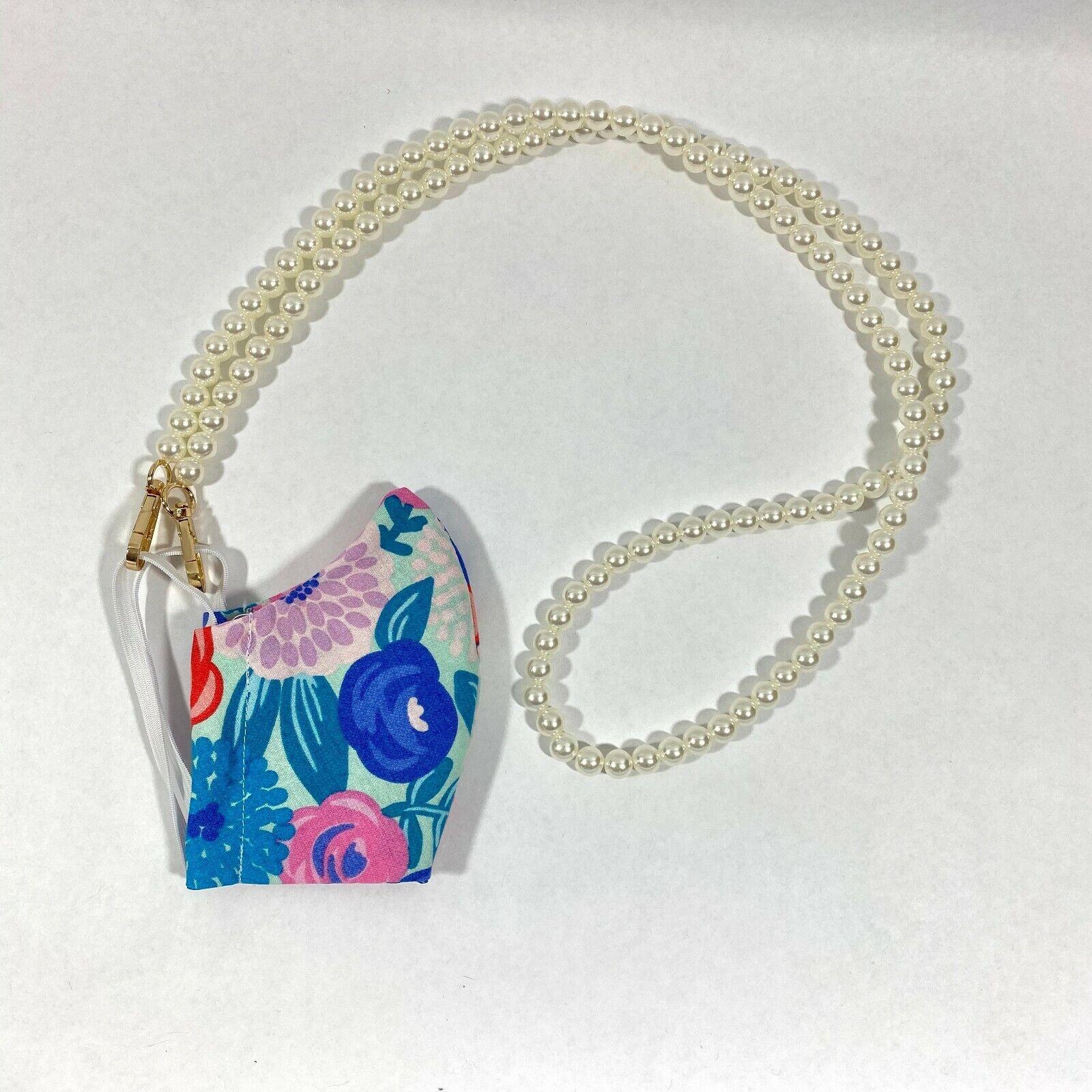 Adult & Kids Pearl Face Mask Lanyard / Ear Holder Rope Adjustable / Mask Rope /