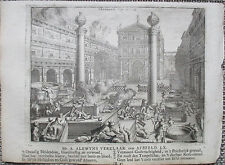 R. de Hooghe Original Bible Engraving Jerusalem Temple 2 - 1721