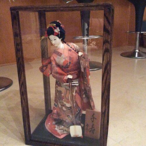 solid oak 10x10x20 inch doll case display walnut stain
