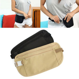 Travel-Pouch-Bag-Hidden-Compact-Security-Money-Zippered-Waist-Belt-Holder-Pocket
