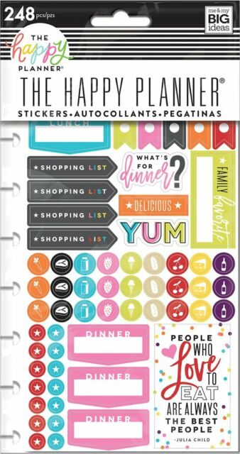 Meal Planning MAMBI The CLASSIC Happy Planner Stickers What/'s For Dinner