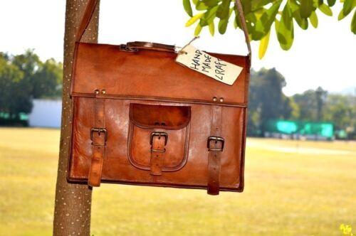 Men/'s Real Leather Laptop Briefcase Messenger Shoulder Bag Handbag Business