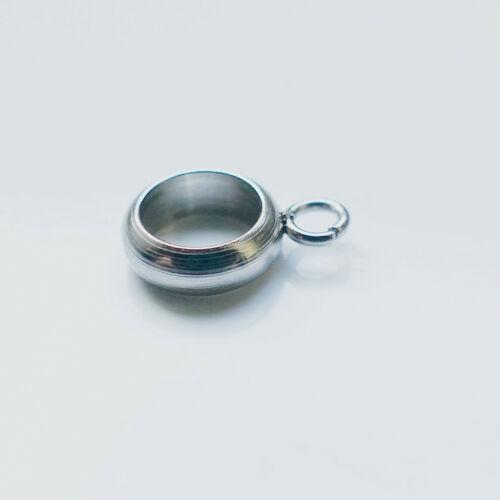 Öse 2 mm Bohrung 5 mm Perle mit Anhängeröse Edelstahl Perle Anhänger