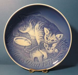 Bing and Grondahl Mothers Day Plate 1971 Cat and Kitten
