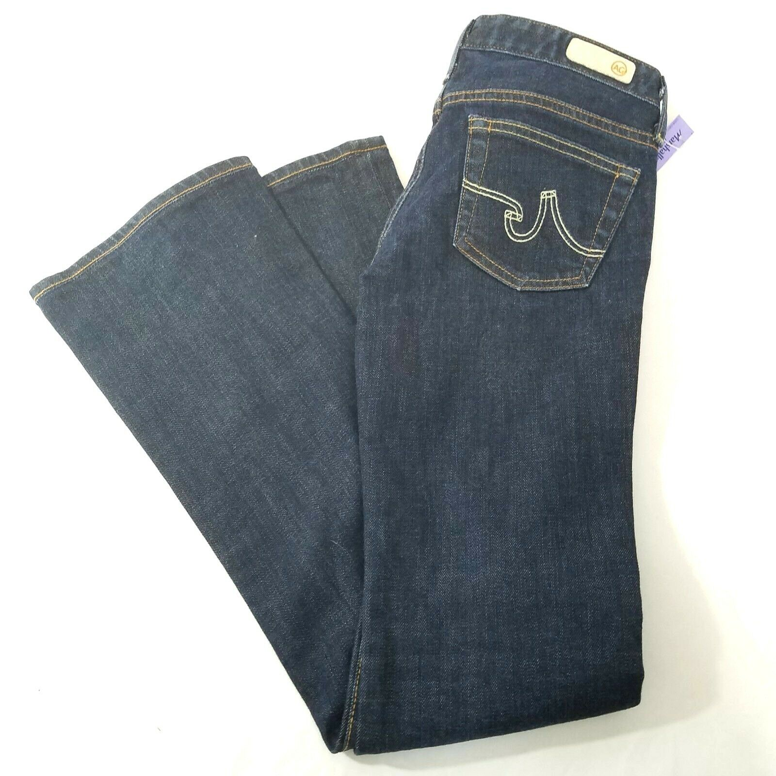 NWT AG Adriano goldschmied The Angel Bootcut Dark Jeans Size 25