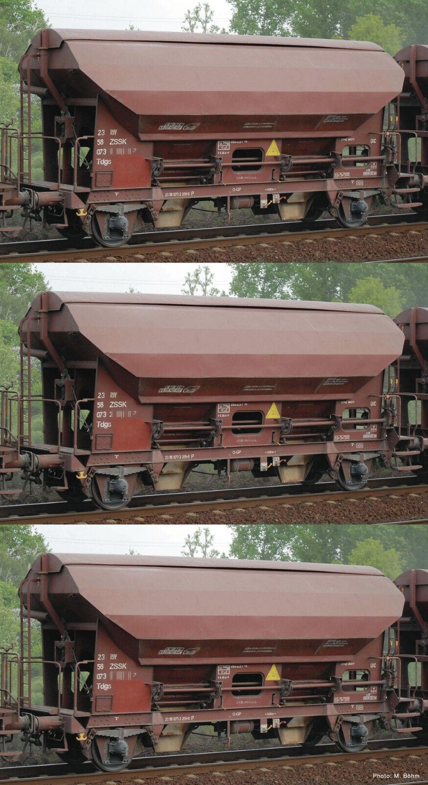 ROCO 76177 Set 3 Schwenkdachwagen ZSSK Auf Wunsch Achstausch für Märklin gratis