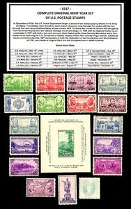 1937-COMPLETE-YEAR-SET-OF-MINT-MNH-VINTAGE-U-S-POSTAGE-STAMPS