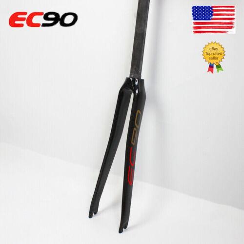 """EC90 Carbon 700C Road Fork 1-1//8/"""" Straight Steer 3K Bike Rigid Forks Gloss//Matt"""