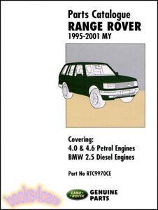 s l300 range land rover parts manual catalogue book rangerover landrover 95