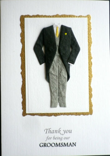 A6 Card THANK YOU for being OUR GROOMSMAN BEST MAN //USHER Can be Personalised