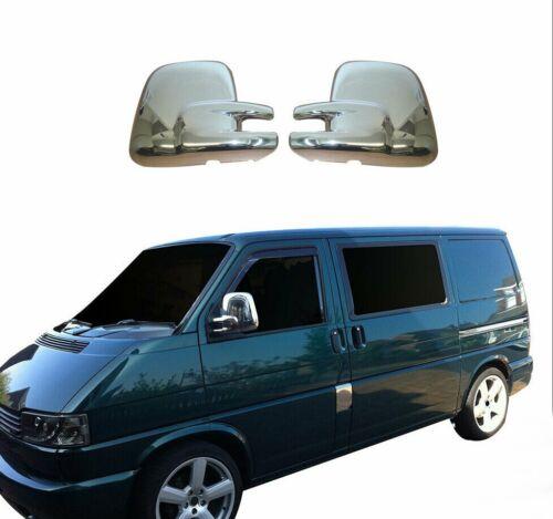 unidad de mano izquierda VW T4 Caravelle Multivan 1996-2003 cubierta espejo ABS CROMO 2Pcs
