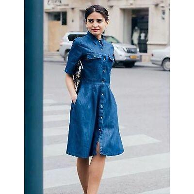 ZARA NEW SS 2016 DENIM DRESS DARK BLUE SIZES XS S M L REF. 5899/056