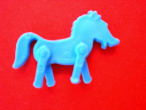 1979 Bunte Figuren  PFERD blau  RES PLASTIC  RAR!