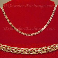 "NEW 24K HEAVY YELLOW GOLD GP 5mm DOUBLE O 18"" CHAIN NECKLACE FAST FREE SHIP #530"