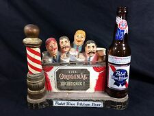 Pabst Blue Ribbon Beer Back Bar Sign Statue PBR Vintage Bar Barbershop JP1
