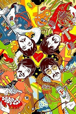 "3.25"" The Beatles Sgt Peppers Lonely Hearts Club STICKER. Great for bong or pipe"