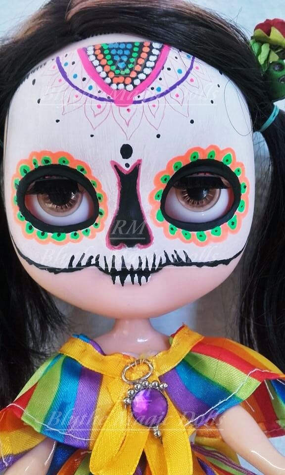 Ooak Icy doll custom Catrina Negro FRIDAY