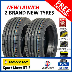 2x new 225 45 17 dunlop sport maxx rt 2 91y 225 45r17 2254517 2 tyres ebay. Black Bedroom Furniture Sets. Home Design Ideas