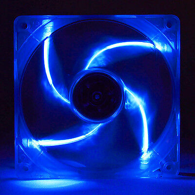 Yate Loon 140mm Clear Fan with 4 Blue LEDS D14SL-12 FREE SHIPPING