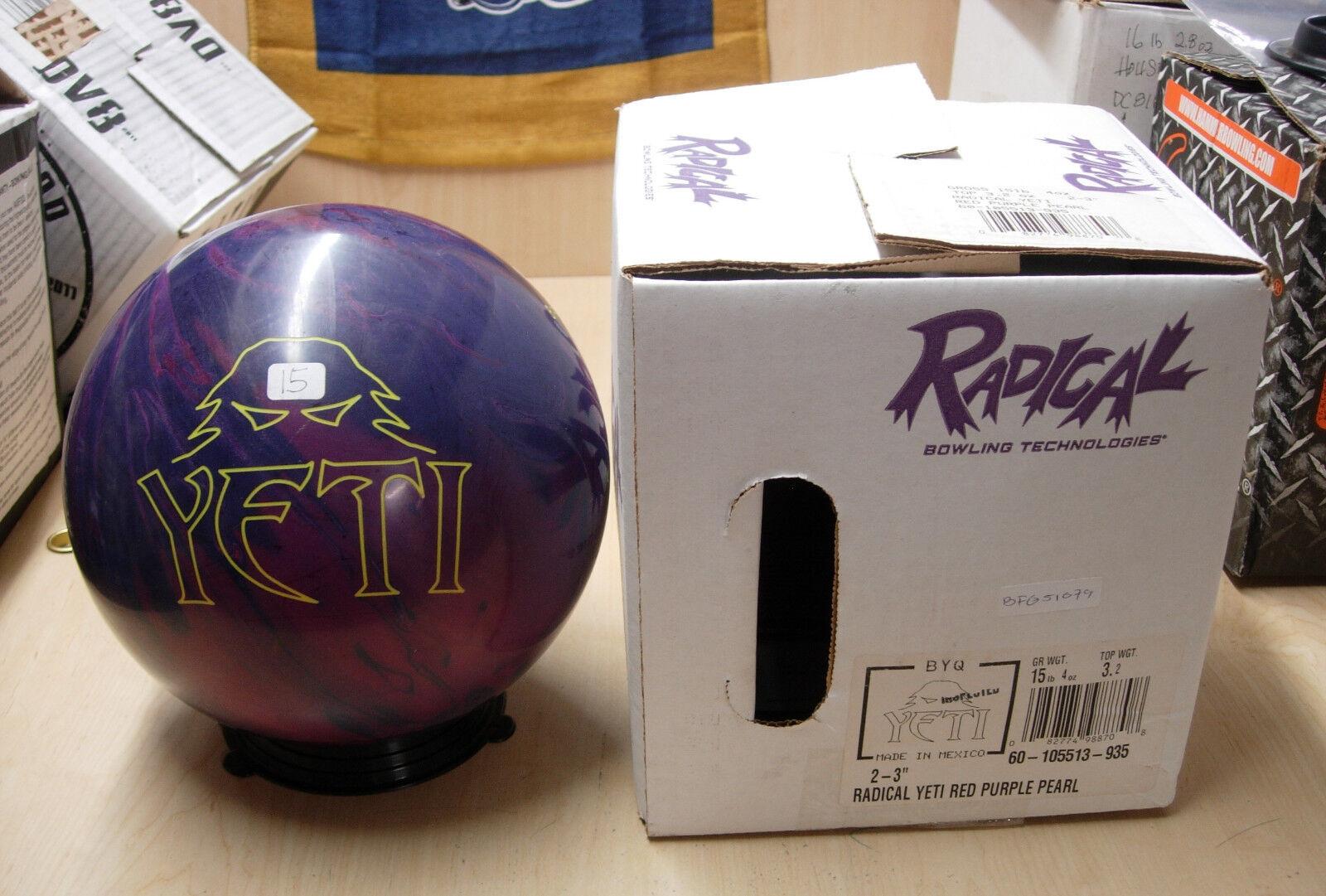= 15NIB Radical YETI Red Purple Pearl Bowling Ball