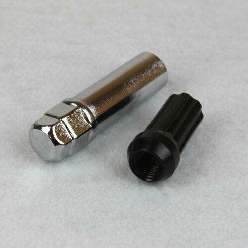 """20 Spline Lugnuts w// Key for 9//16-18 Closed End 2/"""" Tall Extended Long XL Black"""