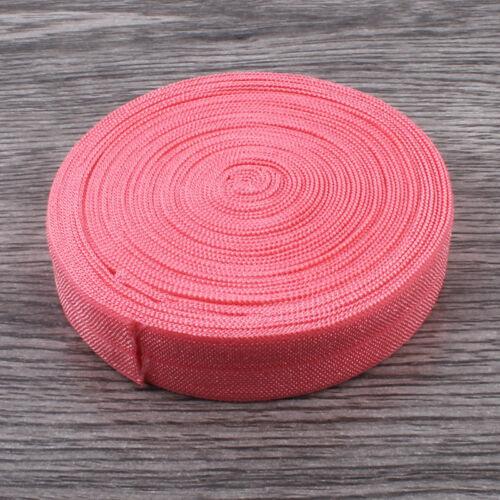 "Solid Fold Over Elastic Ribbon FOE for Elastic Headbands Hair Ties 5//8/"" 30Yards"