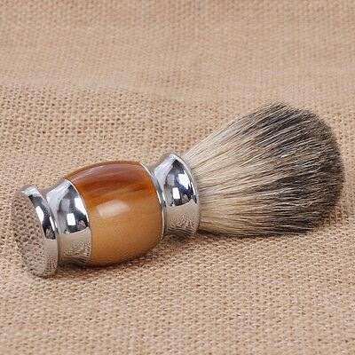 Luxury Badger Hair Resin Handle Beard Wet Shaving Brush Barber Salon Men Tool
