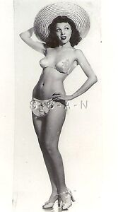 Original Vintage Large Semi Nude Pinup RP- Beauty Queen