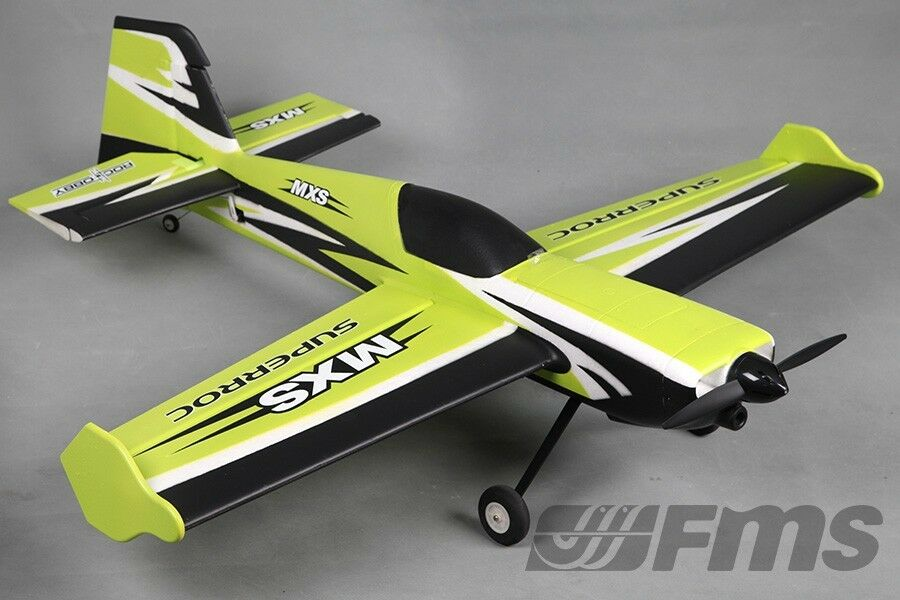 FMS 1100mm MXS V2 3D Aerobatic verde PNP RC Plane No Radio