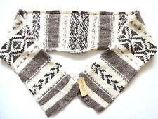 New Ralph Lauren Denim & Supply Wool Blend Printed Faded Brown & Cream Scarf