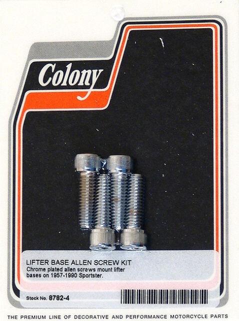 Harley 57-90 XL Lifter Base Screw Kit Colony 8782-4
