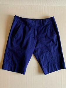 Womens NWT New Adidas Bermuda Golf Shorts sz 6 Indigo Blue