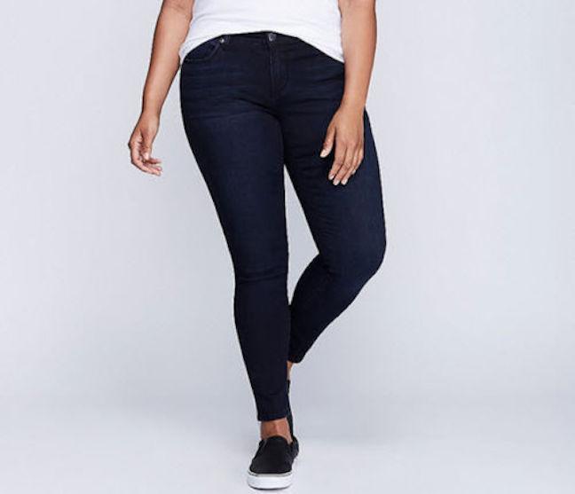 Seven 7 Melissa McCarthy Dark SKINNY Denim Leggings Jeans sz 24W Lane Bryant