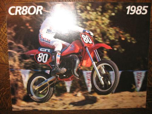 1985 HONDA CR80R NOS OEM DEALER/'S SALES LITERATURE BROCHURE CR 80 R 85