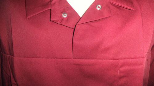 "Mens burgundy red work uniform Nurse Cleaner Carer NHS  55/"" chest 3XL"