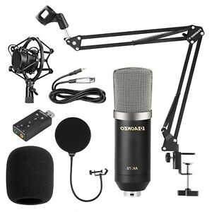 Details about Streaming Microphone Podcast Recording Youtube Condenser  Studio Professional NEW